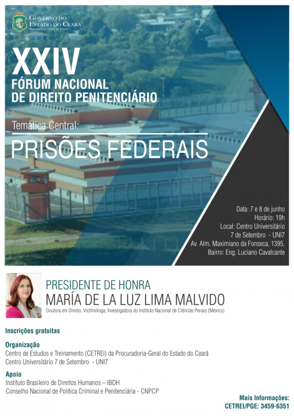 Inscrições abertas para o Fórum Nacional de Direito Penitenciário